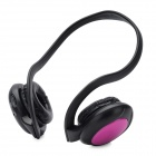 MD-960 Stylish Neckband Headphones MP3 Player Headset w/ FM / TF Card Slot - Black + Purple