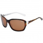 OREKA WG008 Fashion UV400 Protection Polarized Sunglasses - Brown + White