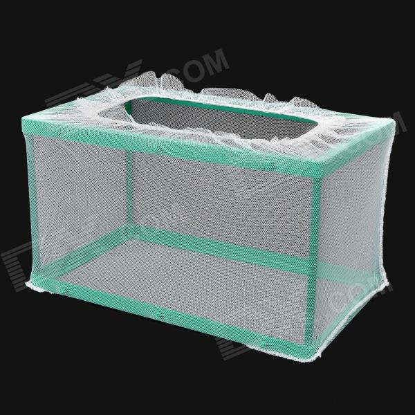 LY4702 Aquarium Fish Tank Net Feeding Breeder - White + Green