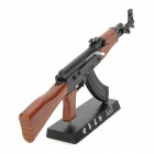 1:3 Stainless Steel AK47 Assault Rifle Display Model Toy - Black + Silver + Coffee