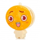 JESSON Lovely Cartoon Figure Style SD / TF / M2 / MS Card Reader w/ Strap - Yellow + Orange