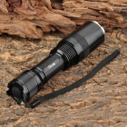 RUSTU RS-13S 800lm 5-Mode White Zooming Flashlight w/ Cree XM-L T6 - Black + Silver (1 x 18650)