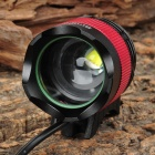 SingFire SF-539 CREE XM-L-T6 4-Mode 1000lm White LED Zooming Bicycle Light - Black + Red (4x18650)
