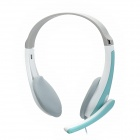 Lupuss LPS-1010 Stereo Headset w/ Microphone - Mint Green + White + Grey
