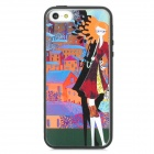 Colorfilm Cartoon Girl Pattern Protective Plastic Back Case for Iphone 5 - Multicolored