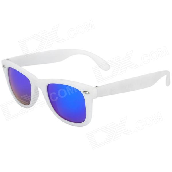 OREKA 011 Outdoor Sport UV400 Protection Polarized Sunglasses - White + Blue Revo carshiro 9150 uv400 protection resin lens polarized night vision driving glasses