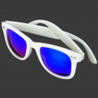 OREKA 011 Outdoor Sport UV400 Protection Polarized Sunglasses - White + Blue Revo