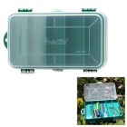 Pro'sKit 103-132C Utility PP 13-Slot Two Sided Lids Component Storage Box - Transparent + Green