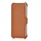 USAMS IP5LTR02 Woven Pattern Protective PU Leather Flip-Open Case for Iphone 5 - Brown