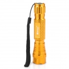 RUSTU R12 800lm 3-Mode White Flashlight w/ Hand Strap, Cree XM-L T6 - Golden (1 x 18650)