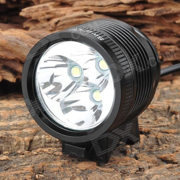 SingFire SF-544 4-Mode 2500lm White LED Bicycle Light w/ CREE XM-L-T6 - Black (4 x 18650) singfire sf 548 1524lm 5 mode white bicycle light w 4 cree xm l t6 black silver 4 x 18650