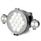 18W 14-LED 6300K 1800lm Video Light w/ Two Folding Mini 2-LED Light - Black Gray (1 x NP-F750)