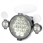 18W 14-LED 6300K 1800lm video valo w / kaksi taitto mini 2-LED-valo - musta harmaa (1 x NP-F750)