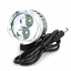 RUSTU D12S 3-Mode 1400ml White LED Bicycle Light w/ CREE XM-L-T6 - Black (4 x 18650)