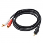 3.5mm Male to RCA Male AV Cable for DVR / DVD / TV - Black + Red + White (120cm)