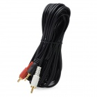 3.5mm Male to RCA Male AV Cable for DVR / DVD / TV - Black + Red + White (4.4M-Length)