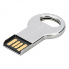 C001 Portable Mini Key Style Stainless Steel USB Flash Disk - Silver (4G)