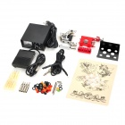 SM-J1204 Steel Motor DIY Tattoo Machine Set - Black + Silver + Red + White