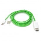 Micro USB MHL to HDMI HDTV Cable for Samsung Galaxy S3 i9300 - Green (200cm / 50cm)