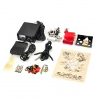 SM-J1202 Steel Motor DIY Tattoo Machine Set - Silver + Red + Black