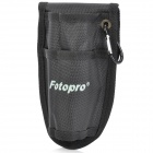 Fotop W1306 Portable Special Nylon DSLR Waist Bag for Monopod / Unipod w/ Carabiner - Black