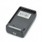 YIBOYUAN Battery Charger w / USB-Port für Samsung Galaxy S3 i9300 - Schwarz (100 ~ 240V / US-Stecker)