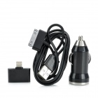 SJT-32 Car Charger w / 30-Pin auf USB Kabel / 30-Pin Female Lightning 8-Pin-Stecker-Adapter für das iPhone