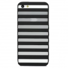 Step Style Protective PC Back Case for iPhone 5 - Black