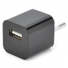 EU Power Charging Adapter + Data Cable for iPhone 5 / iPod Nano 7 / Touch 5 - Black + White