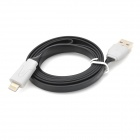USB Data / Charging 8-Pin Lightning Flat Cable for iPhone 5 - Black + White