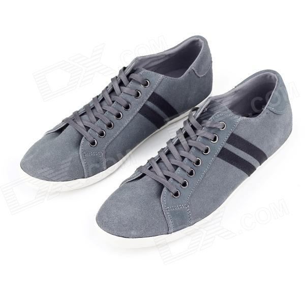 MODEST 3327 Outdoor Sports Suede Shoes for Male - Grey + Black (Size 43 / Pair)