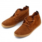 PULL AND BEAR 3306 Outdoor Sports Suede Shoes for Males - Brown (Size 43 / Pair)