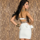 New Arrived Sophisticated Sequin Sexy Curve Fitting Cocktail Dress - White