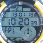 Freelander N10 Multifunction GPS Sports Rubber Band Digital Waterproof Wrist Watch - Yellow + Black