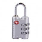 JUST LOCK TSA301 3-Digit Zinc Alloy PIN Combination Pad Lock - Silver