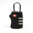 JUST LOCK TSA338 3-Digit Zinc Alloy PIN Combination Pad Lock - Silver + Black