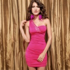 Neu eingetroffen Sophisticated Strass Pailletten Sexy Curve Fitting Cocktailkleid - Pink
