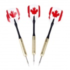 Canada National Flag Pattern  Copper Plated Iron Darts - Red + Black + Golden (3 PCS)