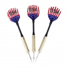 USA National Flag Pattern Copper Plated Iron Darts - Golden + Black (3 PCS)