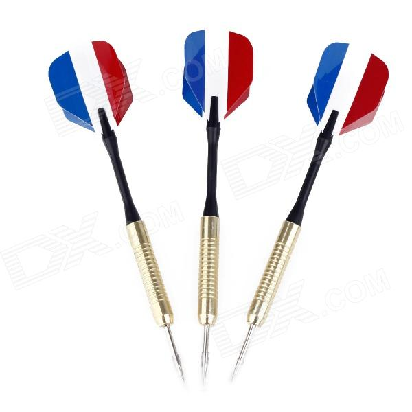 BL006 French National Flag Style Copper-Plating Iron Darts (3 PCS) game darts legering metalen wapen model draaibaar darts cosplay props voor collectie fidget spinner hand anti stress