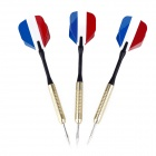 BL006 French National Flag Style Copper-Plating Iron Darts (3 PCS)