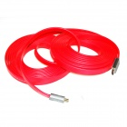 ULT-unite C5 HDMI V1.4 Male to Male Digital Audio / Video Flat Cable - Red (10m)