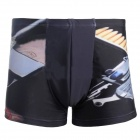 3D Pistol Gun Style Shorts for Men - Black (Size XL)