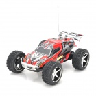 WL Toys 2019 High Speed 2-CH 1:23 Mini R/C Truck Car w/ USB Charger + Road Block - Red