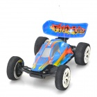 WLToys 2307 Mini High-Speed USB Charging 5-CH Kart Car Model w/ Remote Controller - Blue + Orange