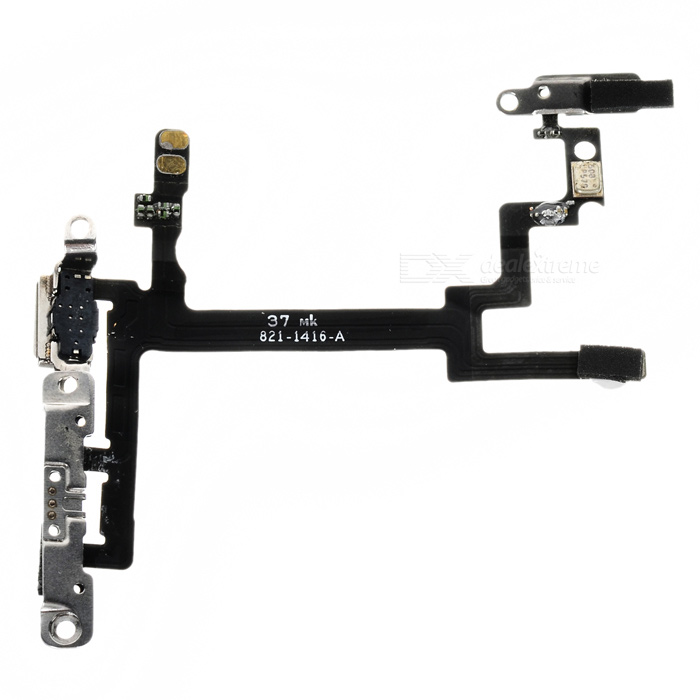 Replacement Power Switch Flex Cable for IPHONE 5 - Black