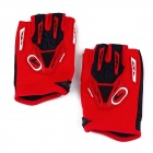 CE-03B Professional Anti-Slip Breathable Half-Finger Riding Gloves - Red (Size L)