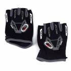 CE-03B Professional Anti-Slip Breathable Half-Finger Riding Gloves - Black (Size M)