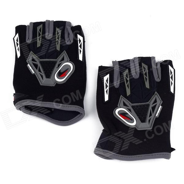 CE-03B Professional Anti-Slip Breathable Half-Finger Riding Gloves - Black (Size L)