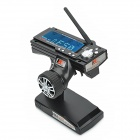 "Flysky FS - GT3B 2.4GHz 3-CH 3.5"" LCD Gun Transmitter + Receiver for RC Car / Boat - Black (8 x AA)"